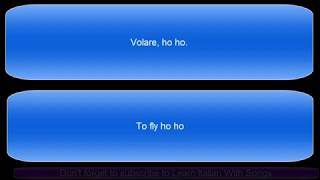 Volare, Domenico Modugno (Italian & English lyrics)