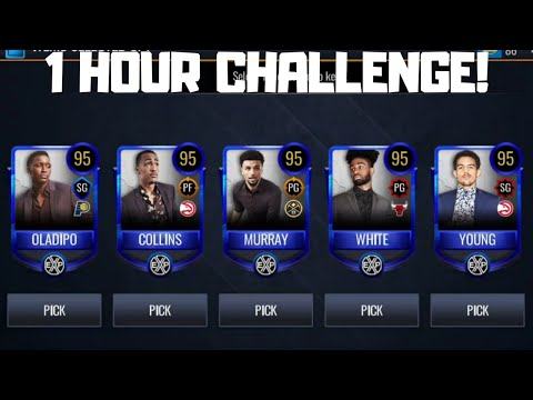 THE ONE HOUR CHALLENGE IN NBA LIVE MOBILE 20!!!