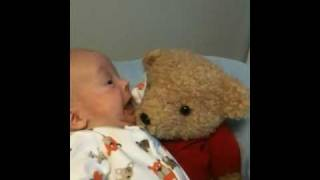 William learns a new word and meets his teddy bear.
