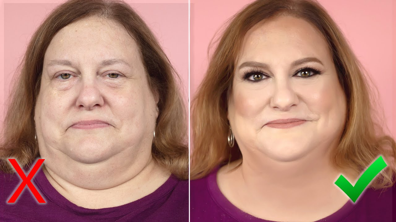 HIDE A DOUBLE CHIN WITH MAKEUP & CONTOURING! Tutorial on Best Tips For  Slimming The Face & Neck.