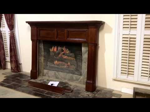 The Newport Mantel in Cherry with stain
