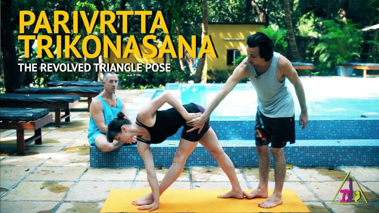 Parivrtta Trikonasana (Revolved Triange Posture) - Ashtanga Yoga with Joey Miles