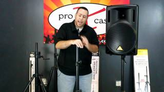 ProXcases T-SS18 Professional speaker stand for on-the-go Musicians, mobile, dj, Club, Bar.