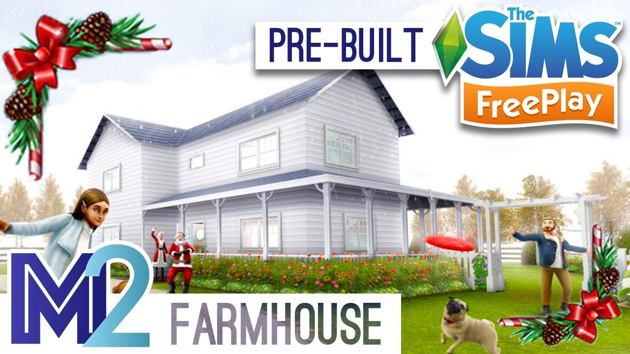 Sims FreePlay - Farmhouse Tour + Roof Tutorial (Early Access)