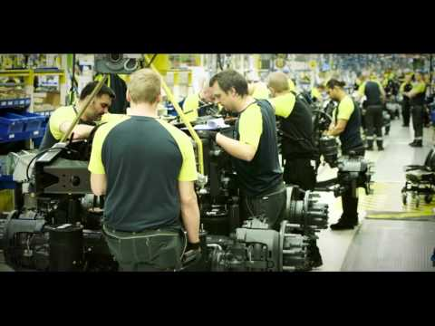 The Volvo Group truck plant in Tuve