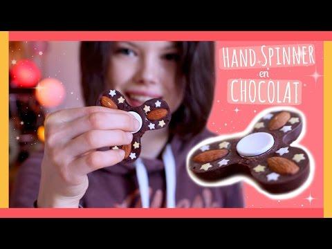 COMMENT FAIRE UN HAND SPINNER COMESTIBLE en CHOCOLAT | (DIY Français) - Claire