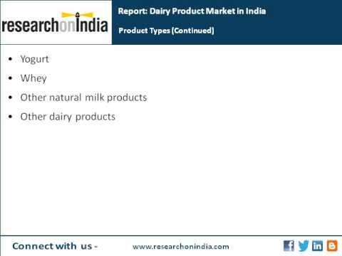 India Market Research Report : Dairy product market in india