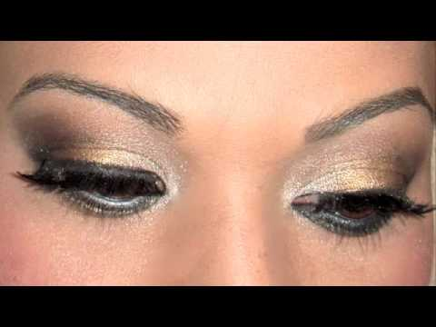 Maquillage des yeux gold and silver smokey eyes youtube - Maquillage smoky eyes ...