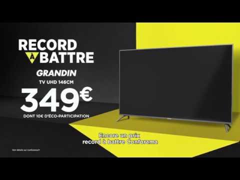 Record à Battre Conforama Téléviseur Uhd Grandin 146 Cm By
