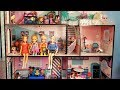 Playing in the new dollhouse ! Elsa and Anna toddlers - lol dolls - pool - surprises