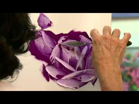 Как нарисовать розу маслом