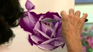 Учимся рисовать розу масляными красками(В этом видео мастер Ahuva Shweiki покажет Вам как нарисовать розу масляными красками и мастихином. Необходимые..., 2012-08-22T12:19:00.000Z)