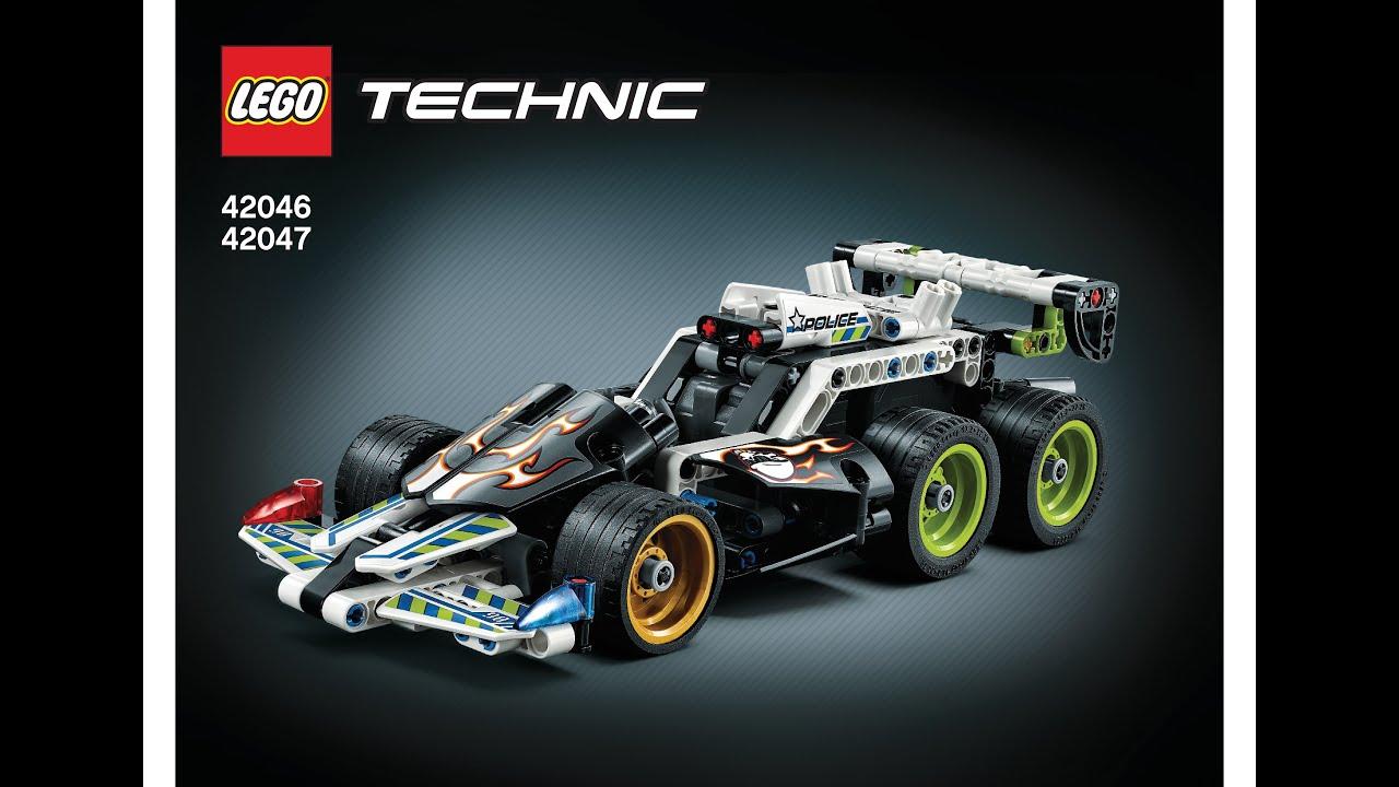 Lego 42046 42047 Extrem Police Racer Instructions Lego Technic