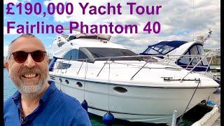 £190,000 Yacht Tour : 2007 Fairline Phantom 40