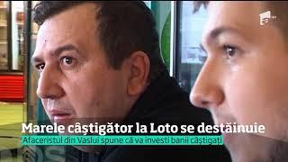 Afaceristul din Vaslui, care a câştigat marele premiu la Loto 6/49, se destăinuie