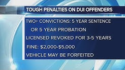DUI offenders will have tougher penalties