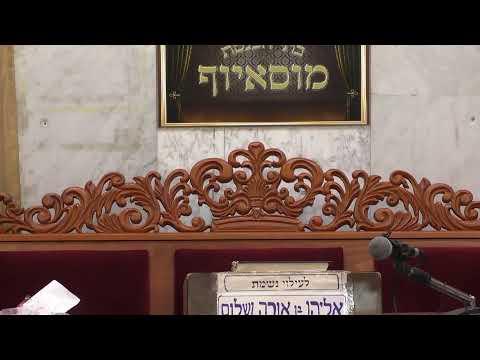 שידור חי בית הכנסת מוסיוף יום שני 1.7.19