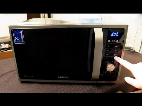 Samsung MG23F301TAS Microwave Unboxing and first use
