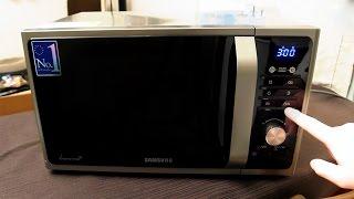 Samsung MG23F301TAS мікрохвильова піч Розпакування і перше використання