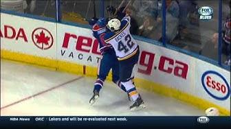 Iiro Pakarinen blows out knee on hit on David Backes St. Louis Blues vs Edmonton Oilers Feb 28 2015