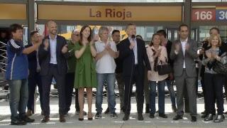 El presidente Mauricio Macri encabeza el acto de inauguración del Metrobus Oeste