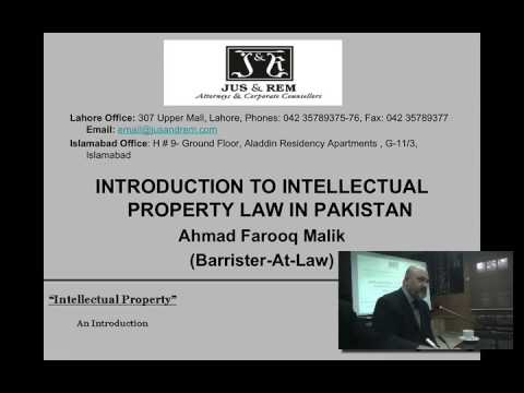 LHCBA Lecture: Barrister Ahmad Farooq Malik on Intellectual