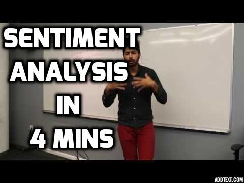 Sentiment Analysis in 4 Minutes