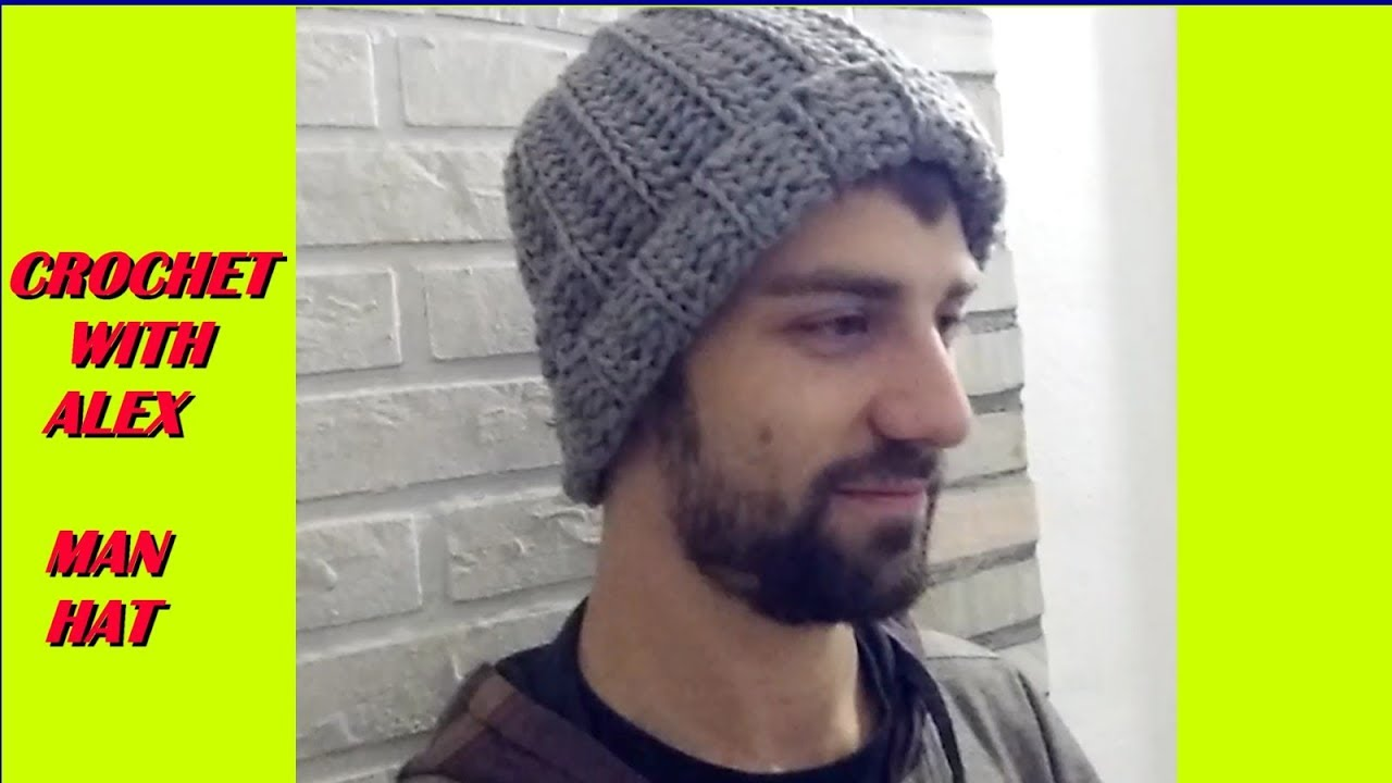 CROCHET HAT FOR MAN any size tutorial - YouTube c7605dd673f