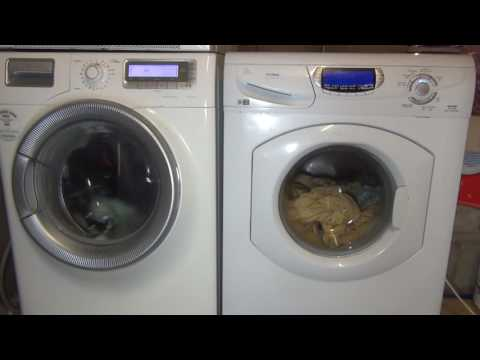Electrolux Time Manager Vs Hotpoint Ultima 1 Hour cycle wash race