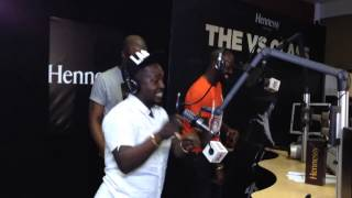 MI Abaga and Show Dem Camp freestyle at Beat FM 999