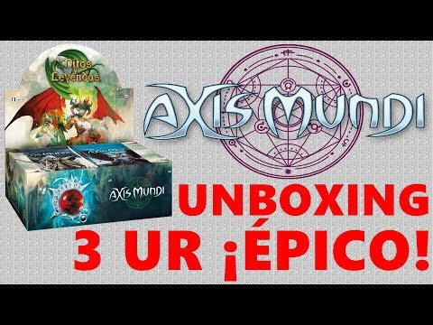 Ep98: Unboxing caja Axis Mundi Mitos y Leyendas,  3 UR ¡ÉPICO!
