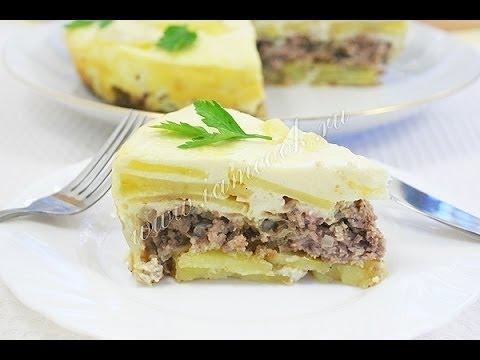 Картофельная запеканка с фаршем в мультиварке  Пошаговый рецепт