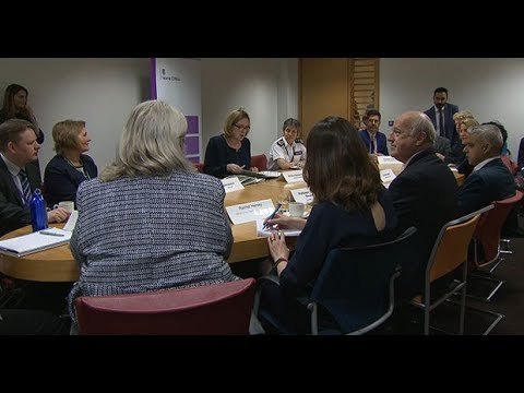 Amber Rudd hosts roundtable at Home Office to discuss violent crime strategy