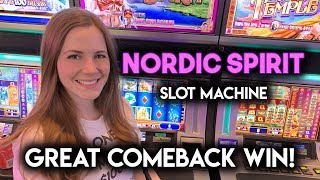 AWESOME! Comeback win on Nordic Spirit Slot Machine!! BONUS!!