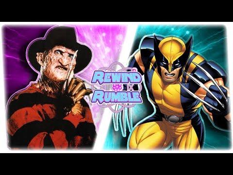FREDDY KRUEGER vs WOLVERINE! (Nightmare on Elm Street vs Marvel) | REWIND RUMBLE