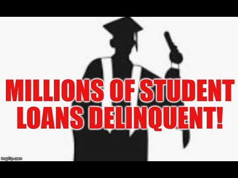 MILLIONS OF DELINQUENT STUDENT LOANS , FINANCIAL STRESS HITS RECORD, FOOLISH SPENDING TO BLAME?