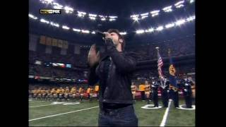 Download Kris Allen National Anthem NFC Championship HD 1/24/2010 MP3 song and Music Video