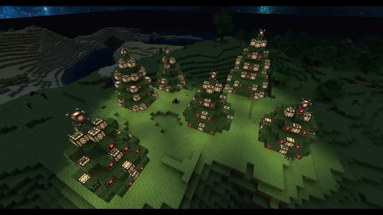Poradnik Minecraft - Jak zbudować Choinke / How to build Christmas tree ! - YouTube