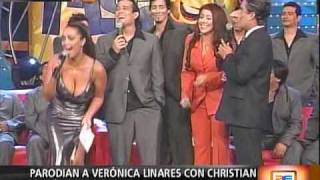 Parodian a Verónica Linares con Christian Domínguez en RdR...