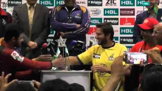 HBL PSL All Captains funny moments on PSL Trophy