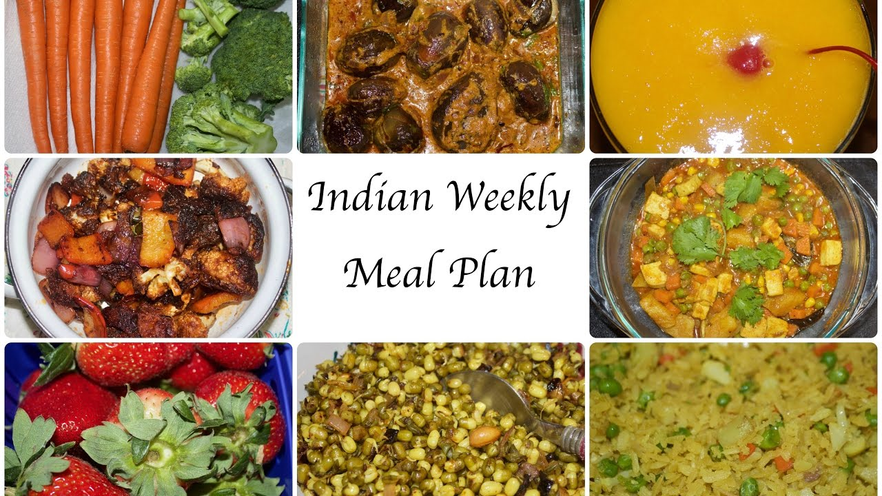 Indian Weekly Meal Planning