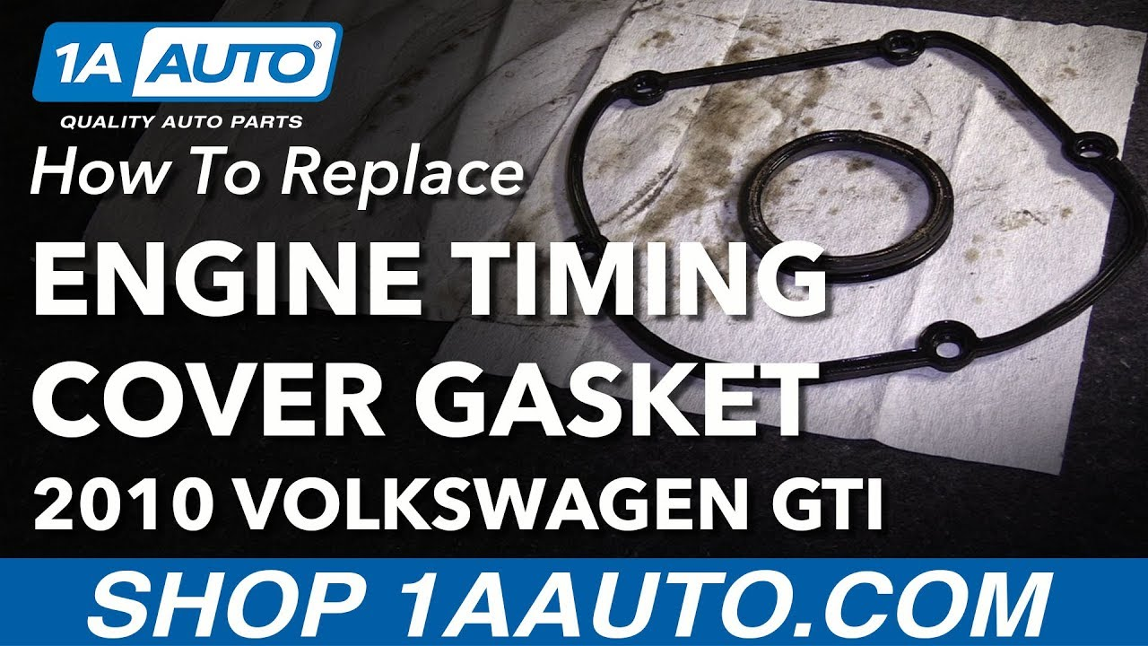 how to replace upper engine timing cover gasket 10-14 volkswagen gti