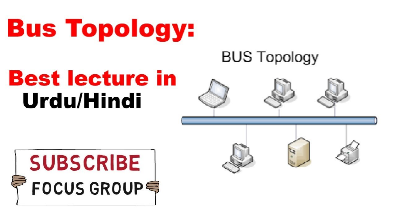 Bus Topology || Advantage & Disadvantage | Working Of Bus Topology |  Lecture In Urdu/Hindi