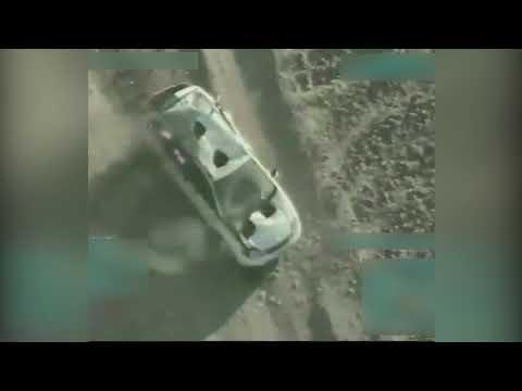 A USAF A-10C Thunderbolt II strikes an insurgent vehicle on January 24, 2018