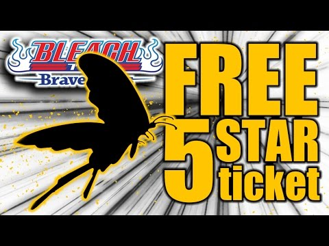 Bleach Brave Souls (summoning): Free 5 star ticket!
