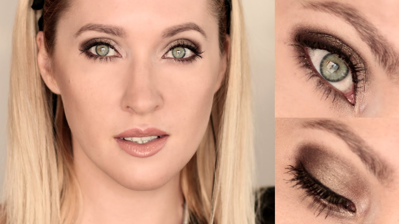 Party Makeup Tutorial ★ Sultry Smokey Eyes Nude Lips