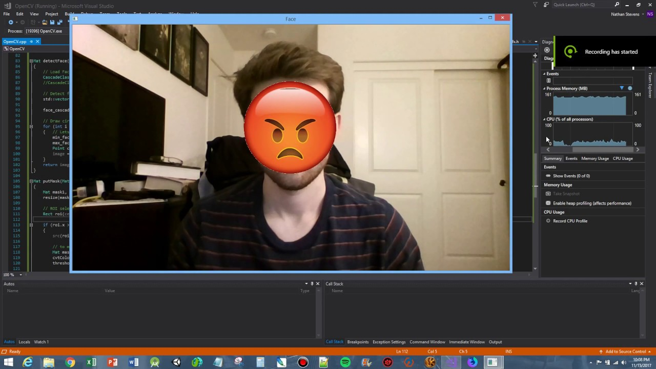 OpenCV 3 3 C++ Face Mask Demo