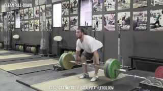 Clean Pull-Down - Olympic Weightlifting Exercise Library - Catalyst Athletics