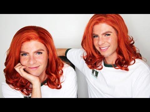 Maquillaje estilo Lindsay Lohan en Juego de Gemelas / tutorial de pecas falsas | David Allegre