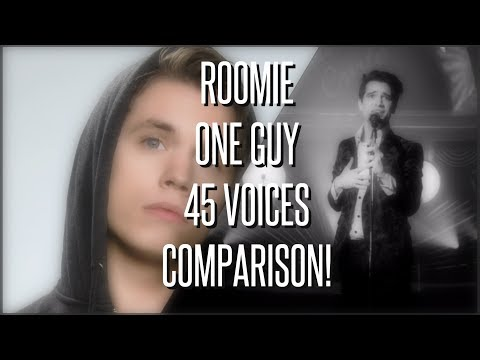 HOW DOES ROOMIES VOICE COMPARE TO THE CELEBRITIES? Roomie: 1 Guy 43 voices